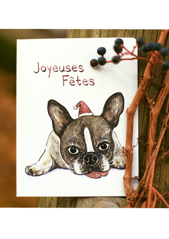 Joyeuses Fetes Frenchie Card
