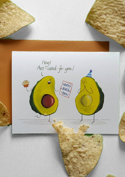Avocado Birthday Card
