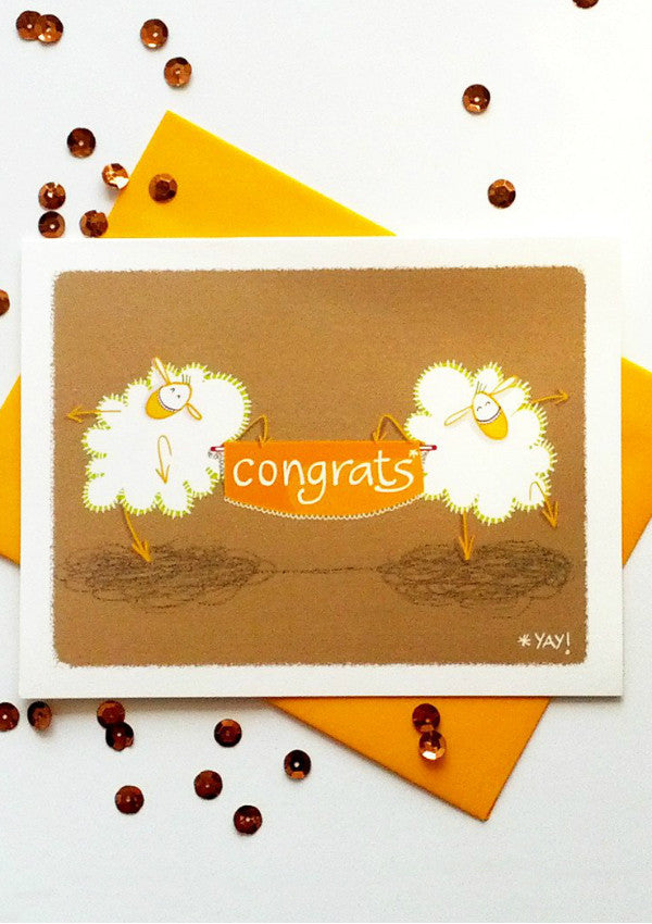 Sheep Congrats Card