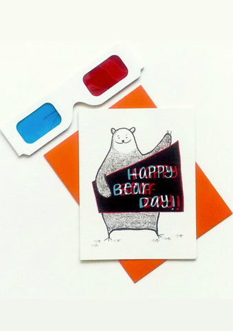 Bear Day 3D Cards