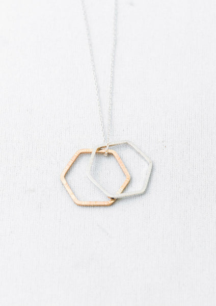 Double Hex Necklace