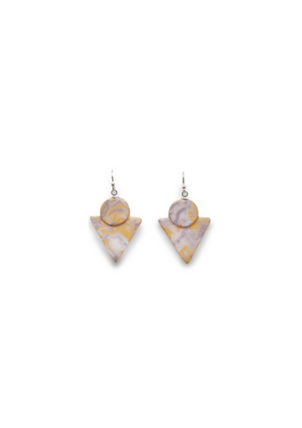 Marble Porcelain Earrings