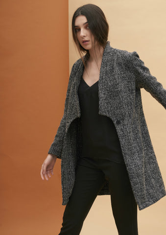 Square Lapel Coat
