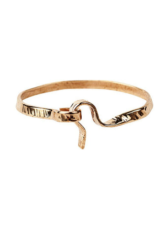 Chloe Hammered Bangle With Closure