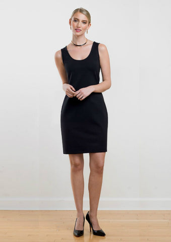 Yana Reversible Sleeveless Ponte Shift Dress