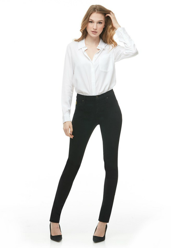 High Rise Skinny Black
