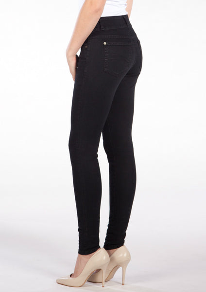 2 Button High Rise Skinny Black