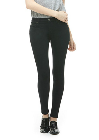 Mid Rise Skinny Overly Dyed Black