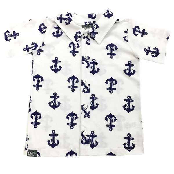 Anchor Party Shirt - Hibou Clothing