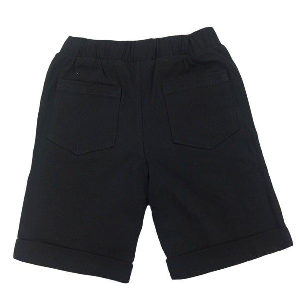 Bermuda Shorts in Black Twill - Hibou Clothing