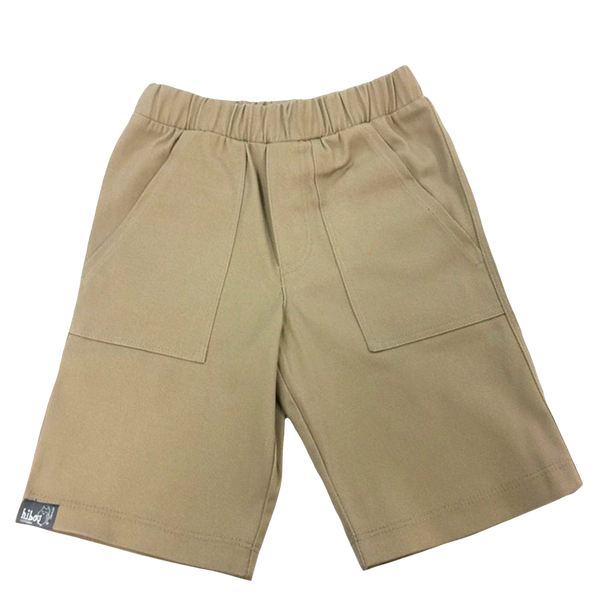 Boys Shorts in Khaki Twill - Hibou Clothing