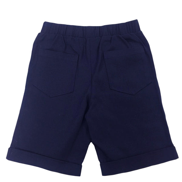 Bermuda Shorts in Navy Twill - Hibou Clothing