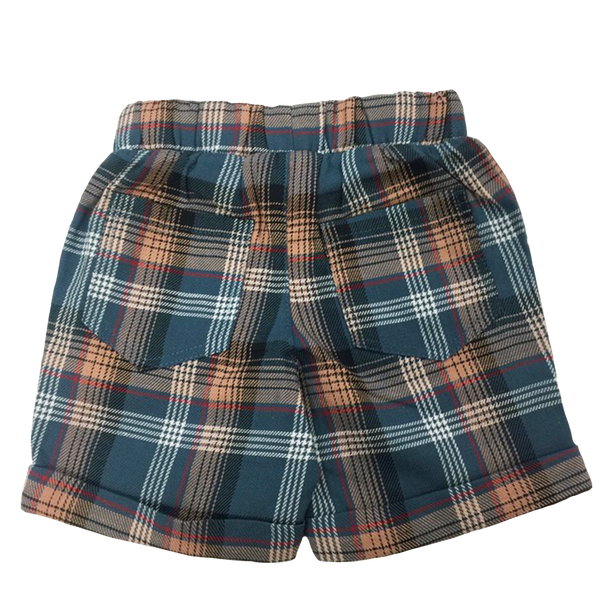 Infant Bermuda Shorts in Plaid - Hibou Clothing