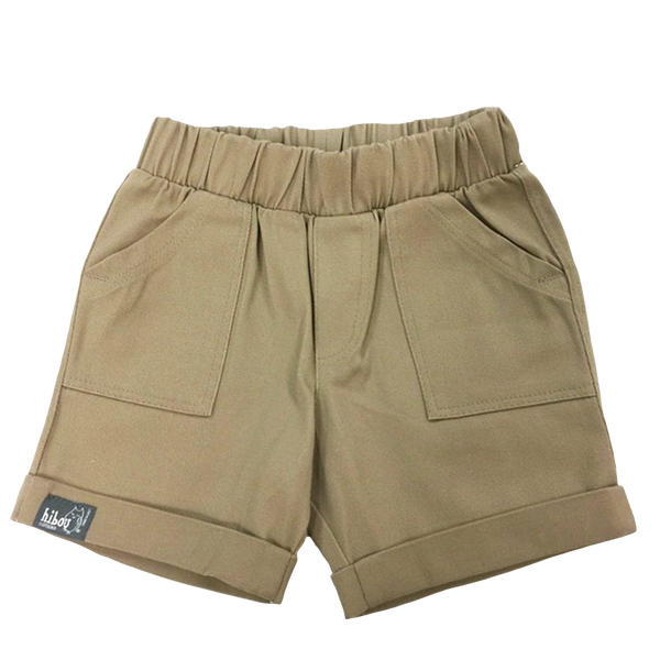 Infant Bermuda Shorts in Khaki Twill - Hibou Clothing