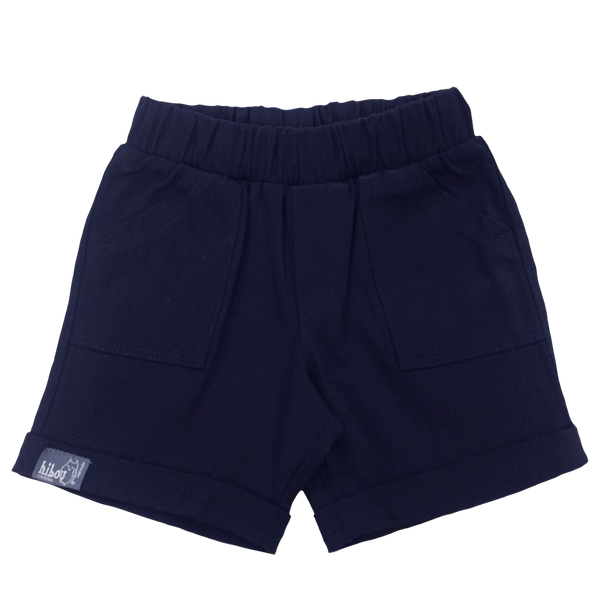 Infant Bermuda Shorts in  Navy Twill - Hibou Clothing