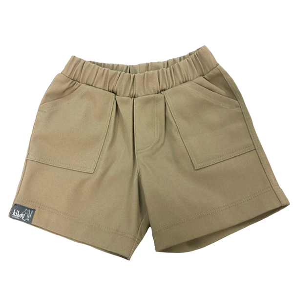 Infant Boys Shorts in Khaki Twill - Hibou Clothing