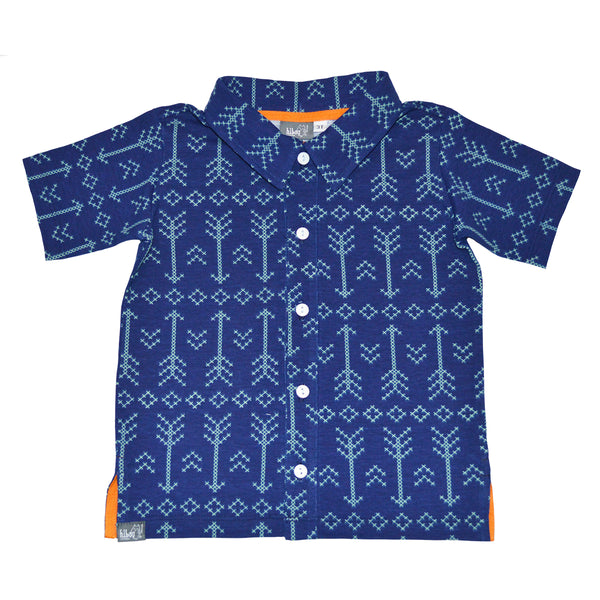 Blue Arrow Party Shirt - Hibou Clothing