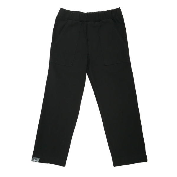Straight Leg Black Twill Pant - Hibou Clothing
