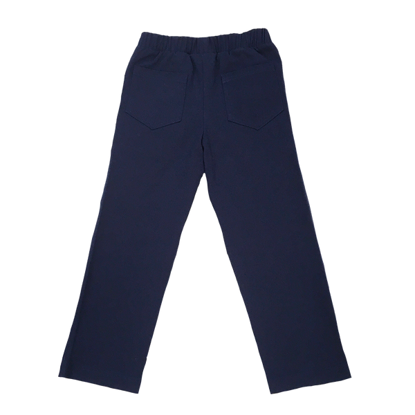 Straight Leg Navy Twill Pant - Hibou Clothing