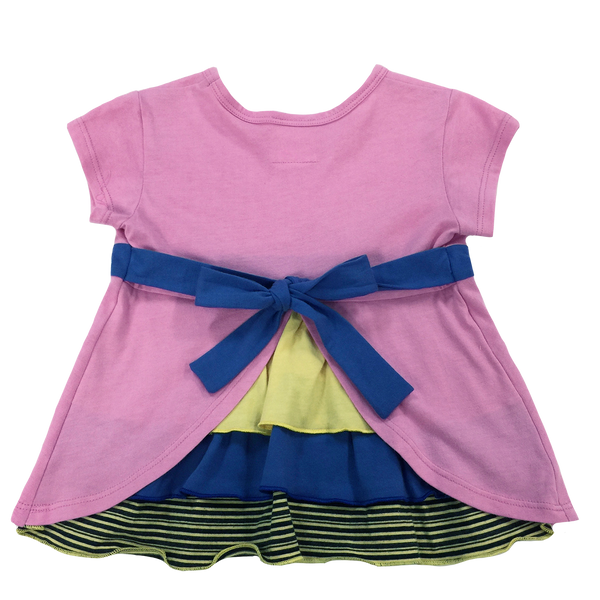 Pink Bustle Top - Hibou Clothing