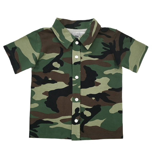 Camo Party Shirt - Hibou Clothing