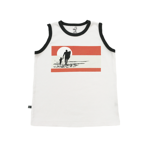 Sunset Beach Boys Tank - Hibou Clothing