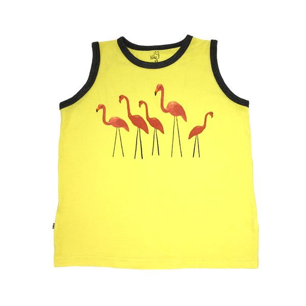 Lawn Flamingo Boys Tank - Hibou Clothing