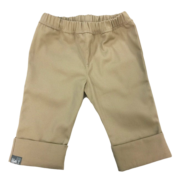 Khaki Girls Cropped Pant - Hibou Clothing