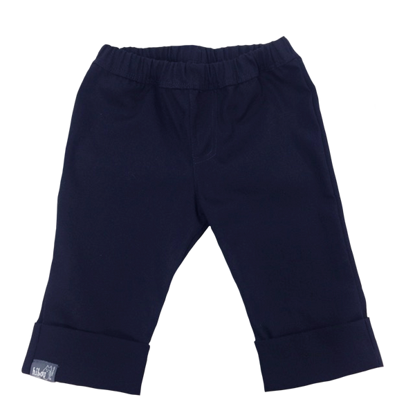 Girls Cropped Pant Navy - Hibou Clothing