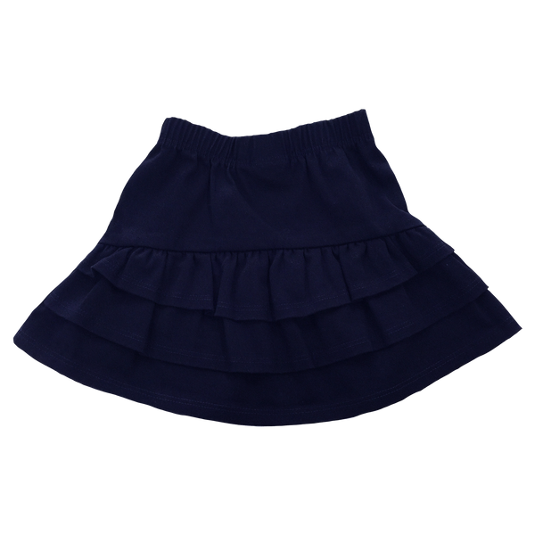 Ruffle Skirt in Navy Twill - Hibou Clothing