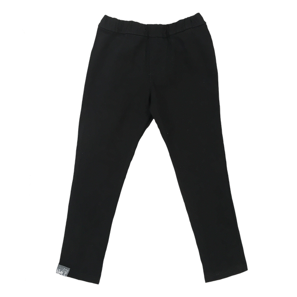 Fitted Black Twill Pant - Hibou Clothing