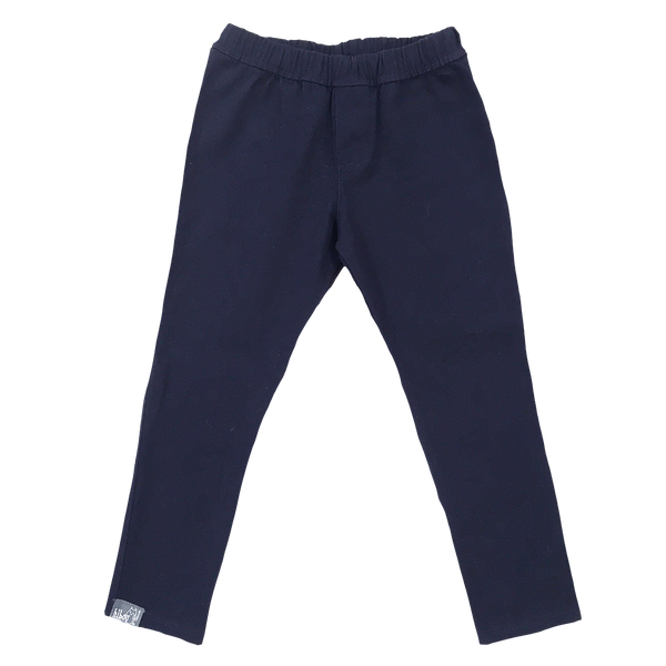 Fitted Navy Twill Pant - Hibou Clothing