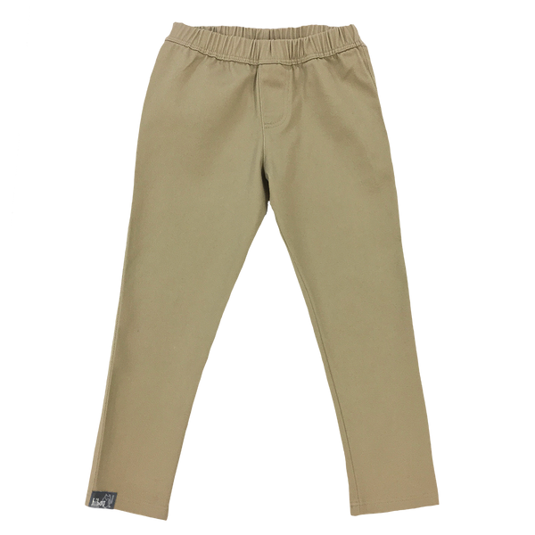 Fitted Khaki Twill Pant - Hibou Clothing