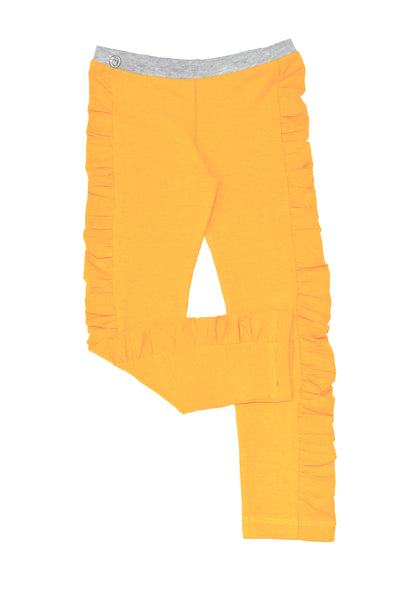 Mustard Ruched Legging - Hibou Clothing