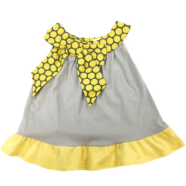Yellow Bow Tank - Hibou Clothing