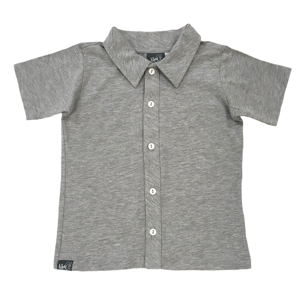 Heather Gray Party Shirt - Hibou Clothing