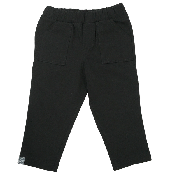 Boys Infant Black Twill Straight Leg Pant - Hibou Clothing