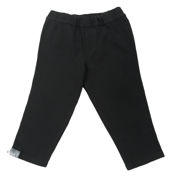 Girls Infant Fitted Black Twill Pant - Hibou Clothing