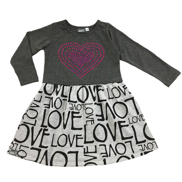 Gray Heart Dress - Hibou Clothing
