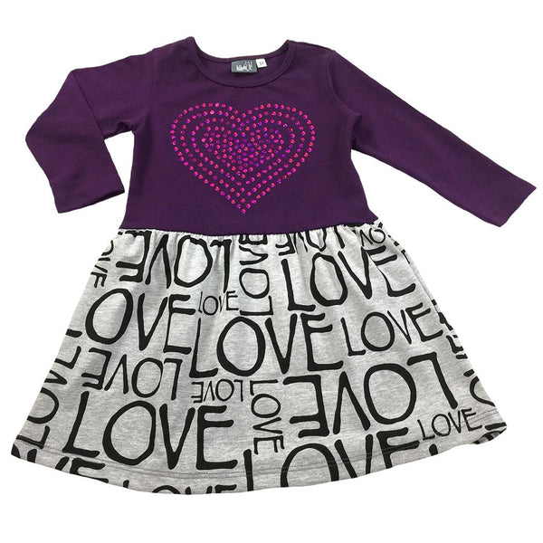 Purple Heart Dress - Hibou Clothing