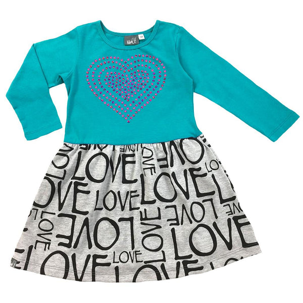 Teal Heart Dress - Hibou Clothing