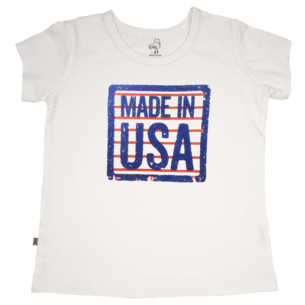 Made in USA Girl Tee - Hibou Clothing