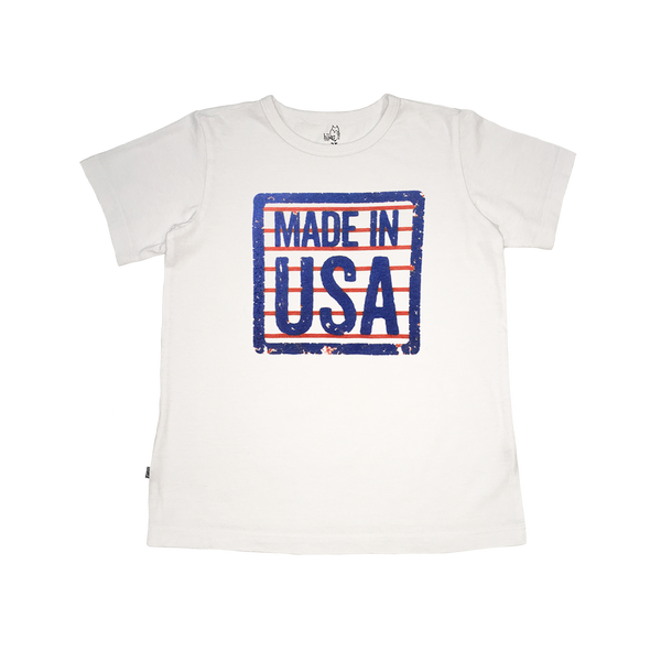 Made In USA Boys Tee - Hibou Clothing
