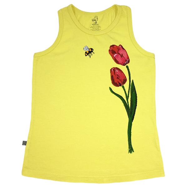 Megan's Flowers Racerback - Hibou Clothing