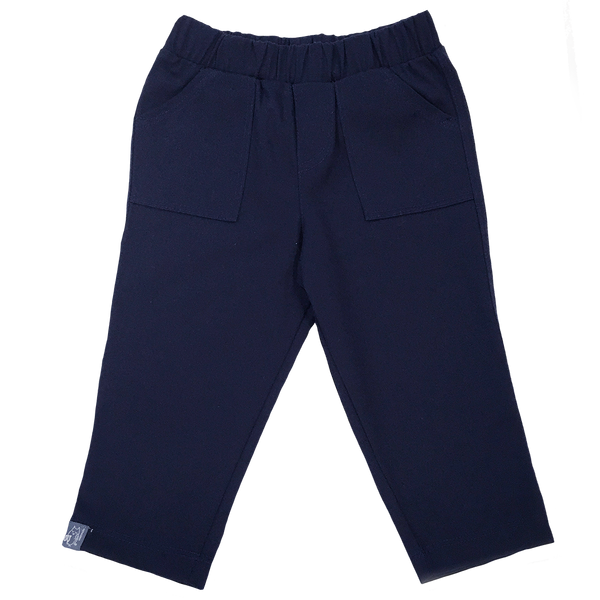 Boys Infant Navy Twill Straight Leg Pant - Hibou Clothing