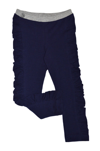 Navy Ruched Legging - Hibou Clothing