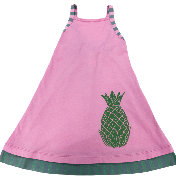 Pink Pineapple Tank Dress - Hibou Clothing