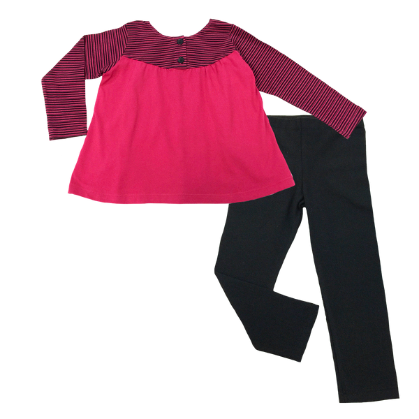 Long Sleeve Rose Set - Hibou Clothing