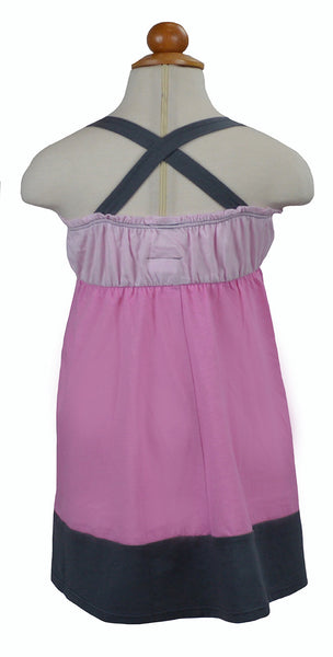 Pink Panel Dress - Hibou Clothing
