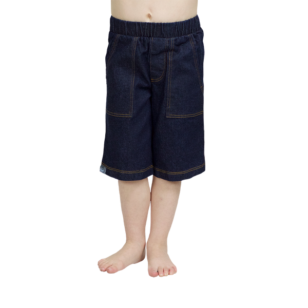 Boy Short in Denim - Hibou Clothing